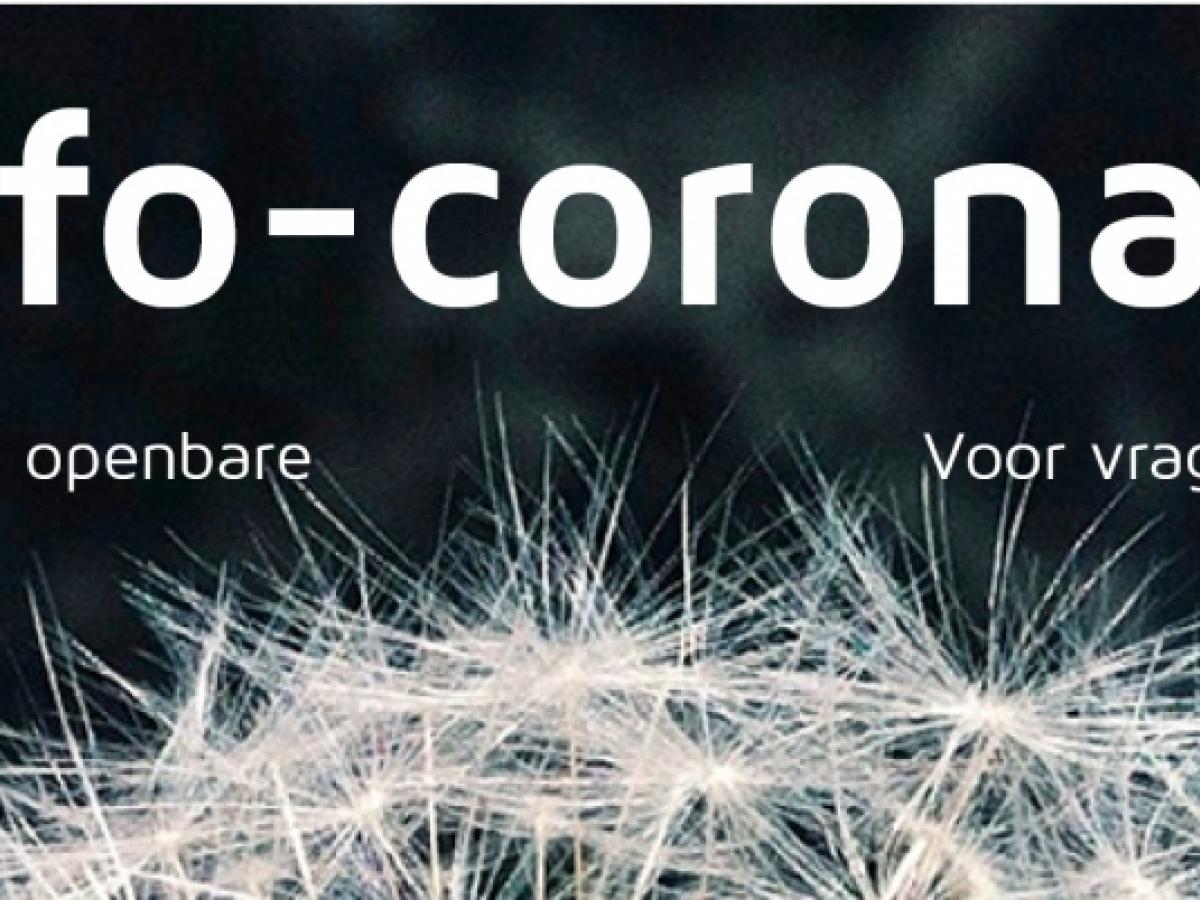 banner met website www.info-coronavirus.be
