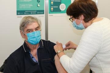 10.000ste prik in vaccinatiecentrum Dilbeek-Ternat