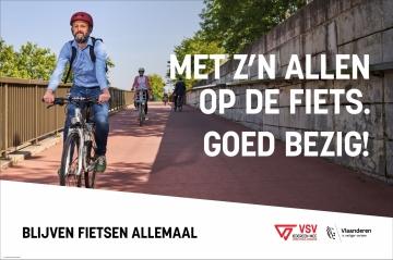 affiche met foto van fietser
