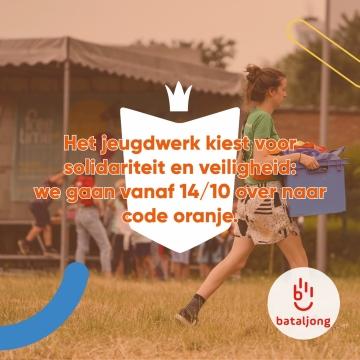 Mededeling Bataljong jeugdwerk naar code oranje