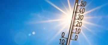 foto van thermometer in de zon