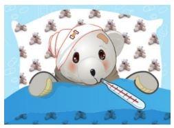 beertje ziek in bed