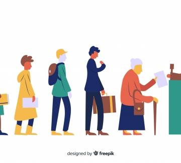 Wachtrijen organiseren aan winkels en afhaalrestaurants