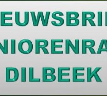 afbeelding met tekst 'nieuwsbrief seniorenraad Dilbeek'