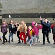 Wandeling met leuke opdrachten georganiseerd door de leerlingenraad