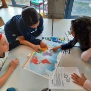 Foto's doorheen het thema water uit klas 4A