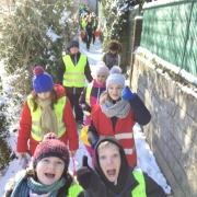 Op sneeuwklassen in Dilbeek!