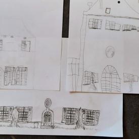 tekeningen kasteel La Motte