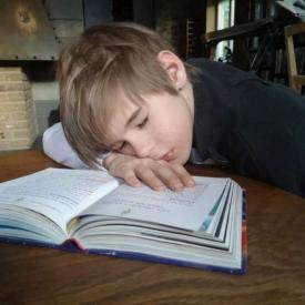 nabootsing schilderij slapend jongetje
