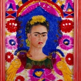 schilderij kleurrijk portret