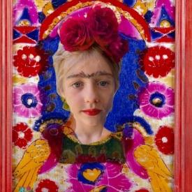 nabootsing schilderij kleurrijk portret