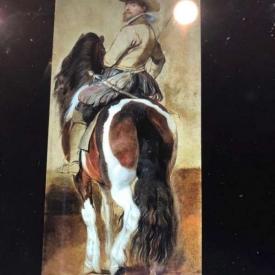 schilderij man op paard