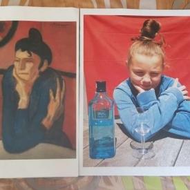 schilderij en nabootsing