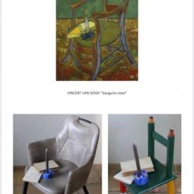 schilderij en nabootsing Vincent Van Gogh stoel