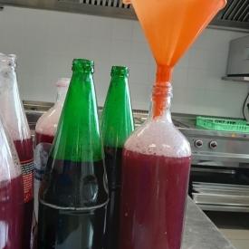 flessen druivensap