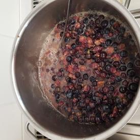 kookpot met druiven