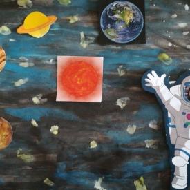 planeten ruimtemannetje vlag