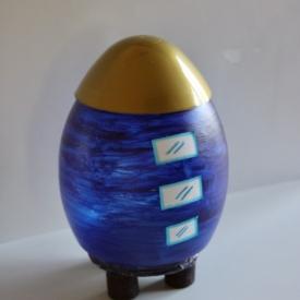blauwe ruimteraket