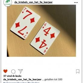 getallen tot 100 kaartspel
