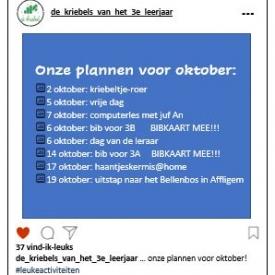 planning oktober