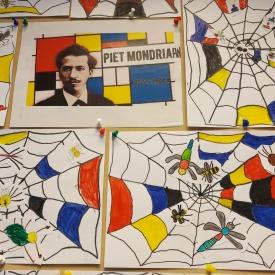 spinnenwebben gebaseerd op Mondriaan