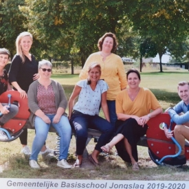 Foto van leerkrachten van de kleuterschool