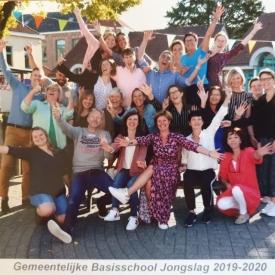 Foto van leerkrachten van de lagere school
