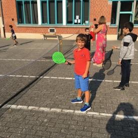 Dag van de sportclub tennis